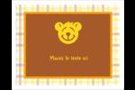 Ours jaune Étiquettes rectangulaires - gabarit prédéfini. <br/>Utilisez notre logiciel Avery Design & Print Online pour personnaliser facilement la conception.