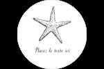 Plage Étiquettes arrondies - gabarit prédéfini. <br/>Utilisez notre logiciel Avery Design & Print Online pour personnaliser facilement la conception.
