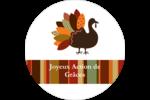 Feuilles et dinde Étiquettes arrondies - gabarit prédéfini. <br/>Utilisez notre logiciel Avery Design & Print Online pour personnaliser facilement la conception.