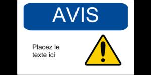 Avis - Zone réglementée
