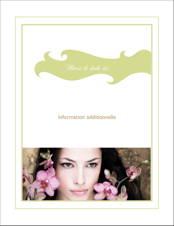 """5½"""" x 4¼"""" Carte Postale - Femme aux orchidées"""