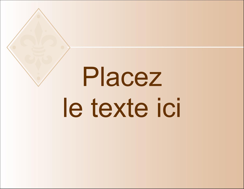 "4¼"" X 5½"" Carte Postale - Diamant beige"