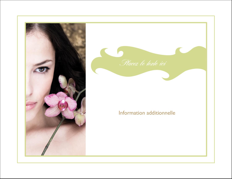 """4¼"""" X 5½"""" Carte Postale - Femme aux orchidées"""
