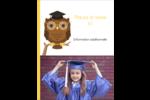 Hibou et diplôme Carte Postale - gabarit prédéfini. <br/>Utilisez notre logiciel Avery Design & Print Online pour personnaliser facilement la conception.