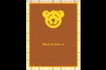 Ours jaune Carte Postale - gabarit prédéfini. <br/>Utilisez notre logiciel Avery Design & Print Online pour personnaliser facilement la conception.