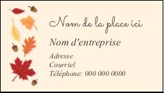 """3½"""" x 2"""" Carte d'affaire - Feuilles de l'Action de grâces"""