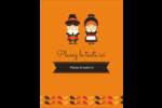 Pèlerins de l'Action de grâce Carte Postale - gabarit prédéfini. <br/>Utilisez notre logiciel Avery Design & Print Online pour personnaliser facilement la conception.
