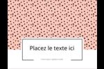 Jolis pois Carte Postale - gabarit prédéfini. <br/>Utilisez notre logiciel Avery Design & Print Online pour personnaliser facilement la conception.