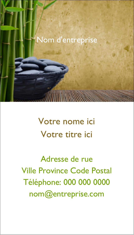"""3½"""" x 2"""" Carte d'affaire - Bien-être"""