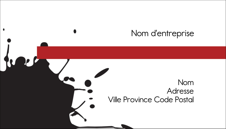 "3½"" x 2"" Carte d'affaire - Fioritures dramatiques"