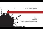 Fioritures dramatiques Carte d'affaire - gabarit prédéfini. <br/>Utilisez notre logiciel Avery Design & Print Online pour personnaliser facilement la conception.