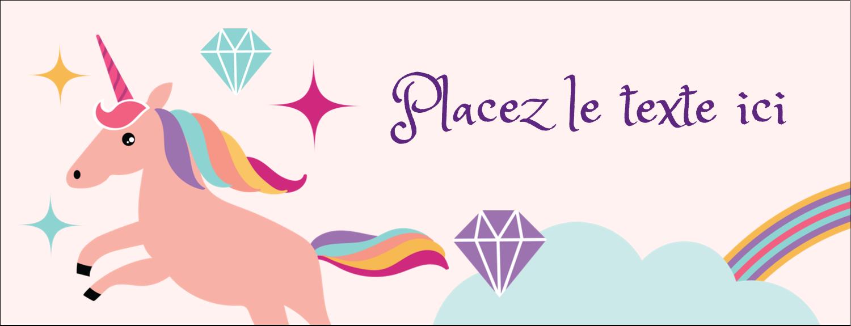 "1-7/16"" x 3¾"" Affichette - Licorne en fête"