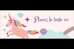 Licorne en fête Affichette - gabarit prédéfini. <br/>Utilisez notre logiciel Avery Design & Print Online pour personnaliser facilement la conception.