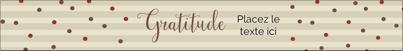 """1½"""" x 2½"""" Étiquettes ovales - Gratitude"""