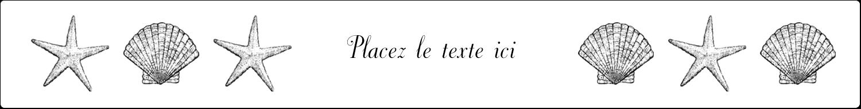 """1½"""" x 2½"""" Étiquettes ovales - Plage"""