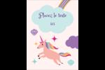 Licorne en fête Étiquettes rondes - gabarit prédéfini. <br/>Utilisez notre logiciel Avery Design & Print Online pour personnaliser facilement la conception.