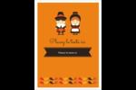 Pèlerins de l'Action de grâce Étiquettes rondes - gabarit prédéfini. <br/>Utilisez notre logiciel Avery Design & Print Online pour personnaliser facilement la conception.
