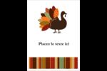 Feuilles et dinde Étiquettes rondes - gabarit prédéfini. <br/>Utilisez notre logiciel Avery Design & Print Online pour personnaliser facilement la conception.