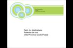 Cercles verts Terrella Étiquettes d'expédition - gabarit prédéfini. <br/>Utilisez notre logiciel Avery Design & Print Online pour personnaliser facilement la conception.