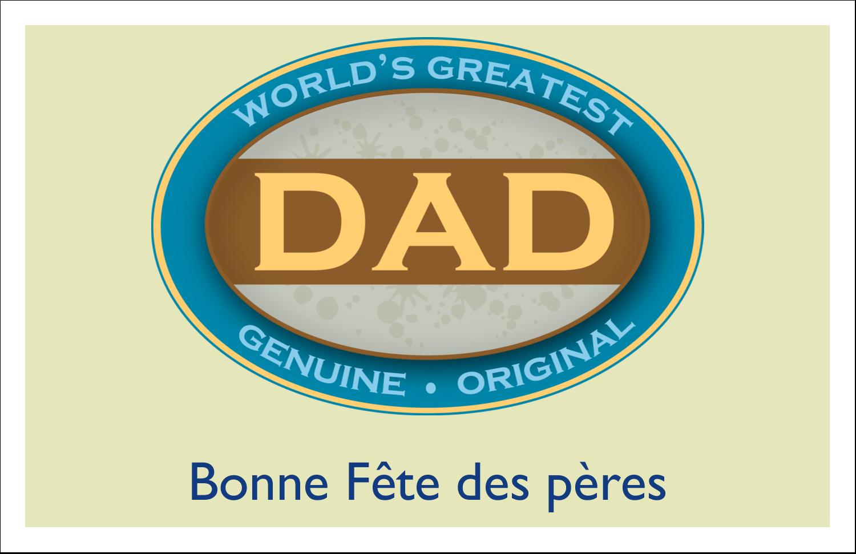 """5½"""" x 8½"""" Cartes de souhaits pliées en deux - Le meilleur papa"""