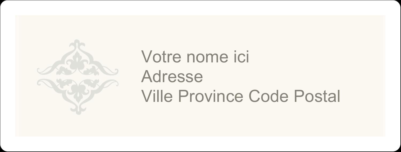 """1"""" x 4"""" Étiquettes d'adresse - Manuscrit de mariage"""
