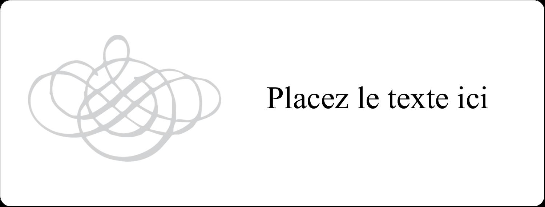 Monogramme de mariage Étiquettes Voyantes - gabarit prédéfini. <br/>Utilisez notre logiciel Avery Design & Print Online pour personnaliser facilement la conception.