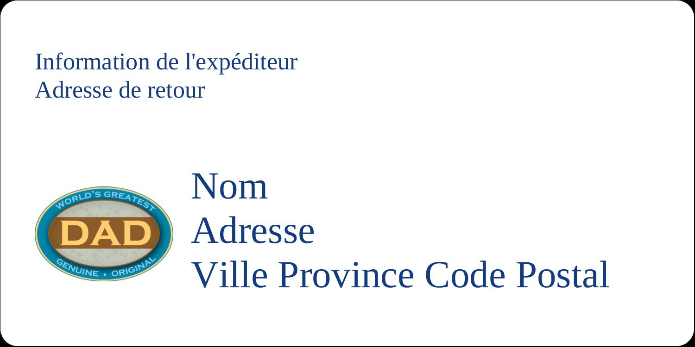 """2"""" x 4"""" Étiquettes d'expédition - Le meilleur papa"""