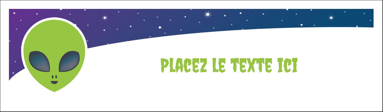 """2½"""" x 8½"""" Affichette - Fête d'extraterrestres"""