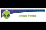 Fête d'extraterrestres Affichette - gabarit prédéfini. <br/>Utilisez notre logiciel Avery Design & Print Online pour personnaliser facilement la conception.