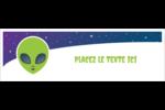 Fête d'extraterrestres Carte de note - gabarit prédéfini. <br/>Utilisez notre logiciel Avery Design & Print Online pour personnaliser facilement la conception.