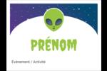 Fête d'extraterrestres Badges - gabarit prédéfini. <br/>Utilisez notre logiciel Avery Design & Print Online pour personnaliser facilement la conception.