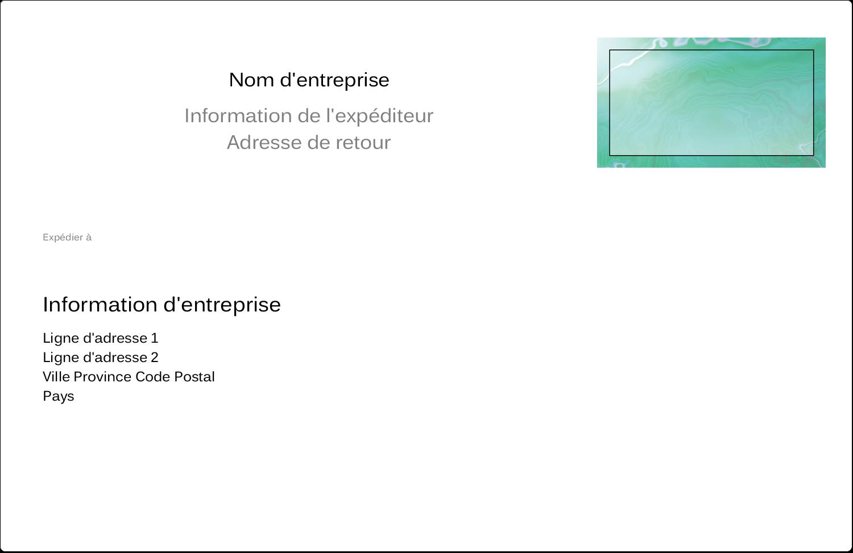 """8½"""" x 5½"""" Étiquettes d'expédition - Agate"""