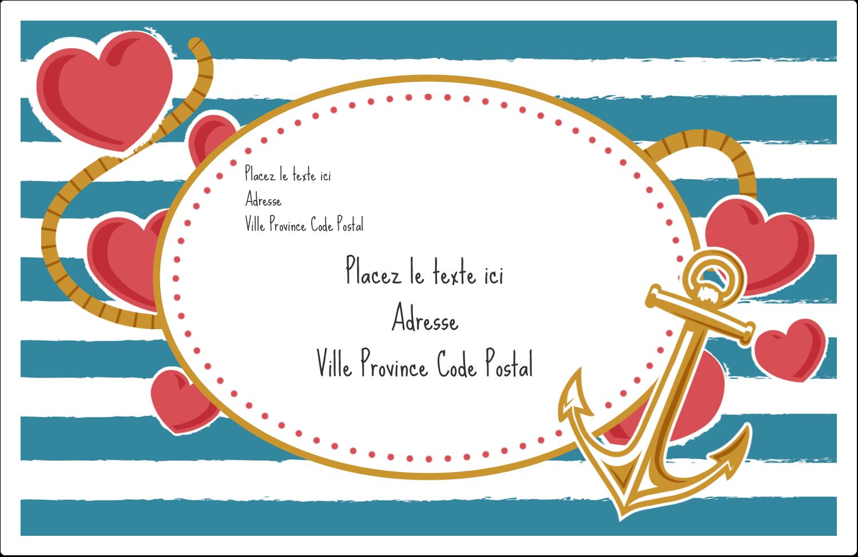 """8½"""" x 5½"""" Étiquettes d'expédition - Ancre de Saint-Valentin"""