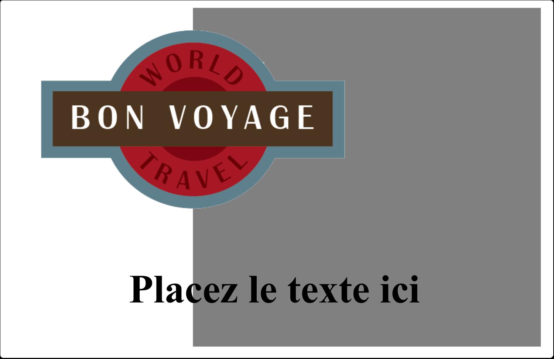 """8½"""" x 5½"""" Étiquettes d'expédition - Voyage d'antan"""