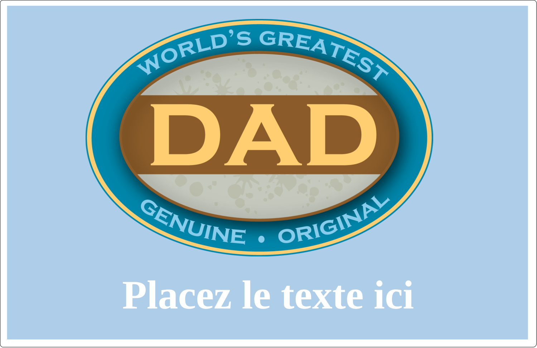 """8½"""" x 5½"""" Étiquettes d'expédition - Le meilleur papa"""