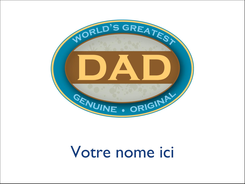 """4"""" x 3"""" Badges - Le meilleur papa"""