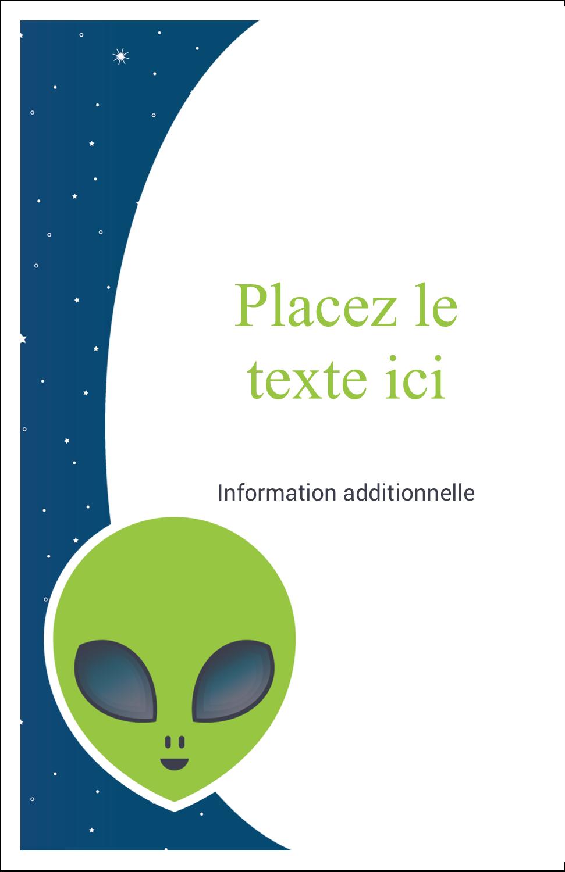 "8½"" x 11"" Binder Insert Reliures - Fête d'extraterrestres"