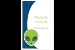 Fête d'extraterrestres Reliures - gabarit prédéfini. <br/>Utilisez notre logiciel Avery Design & Print Online pour personnaliser facilement la conception.