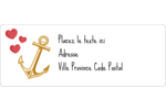 Ancre de Saint-Valentin  Étiquettes D'Adresse - gabarit prédéfini. <br/>Utilisez notre logiciel Avery Design & Print Online pour personnaliser facilement la conception.