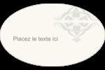 Manuscrit de mariage Étiquettes carrées - gabarit prédéfini. <br/>Utilisez notre logiciel Avery Design & Print Online pour personnaliser facilement la conception.