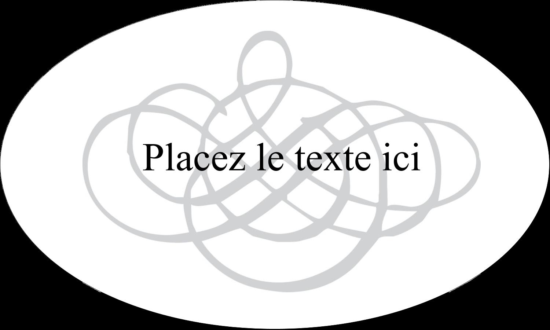 Monogramme de mariage Étiquettes ovales - gabarit prédéfini. <br/>Utilisez notre logiciel Avery Design & Print Online pour personnaliser facilement la conception.