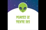 Fête d'extraterrestres Étiquettes carrées - gabarit prédéfini. <br/>Utilisez notre logiciel Avery Design & Print Online pour personnaliser facilement la conception.
