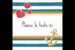 Ancre de Saint-Valentin  Étiquettes carrées - gabarit prédéfini. <br/>Utilisez notre logiciel Avery Design & Print Online pour personnaliser facilement la conception.