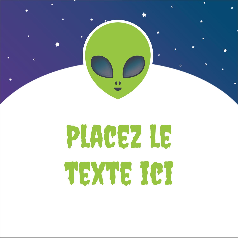 """2"""" x 2"""" Étiquettes carrées - Fête d'extraterrestres"""