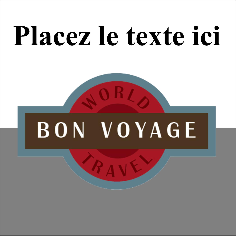"""2"""" x 2"""" Étiquettes carrées - Voyage d'antan"""