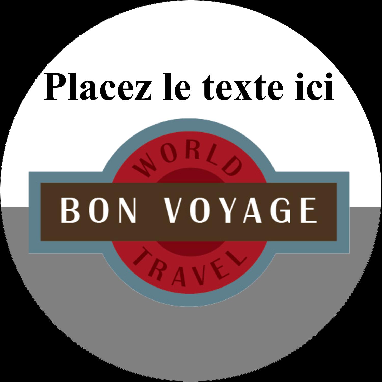 """2½"""" Diameter Étiquettes rondes - Voyage d'antan"""