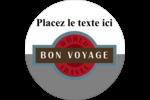 Voyage d'antan Étiquettes rondes - gabarit prédéfini. <br/>Utilisez notre logiciel Avery Design & Print Online pour personnaliser facilement la conception.
