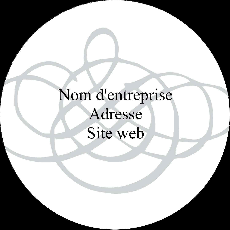 """2½"""" Diameter Étiquettes rondes - Monogramme de mariage"""