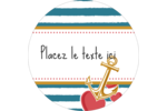 Ancre de Saint-Valentin  Étiquettes rondes - gabarit prédéfini. <br/>Utilisez notre logiciel Avery Design & Print Online pour personnaliser facilement la conception.