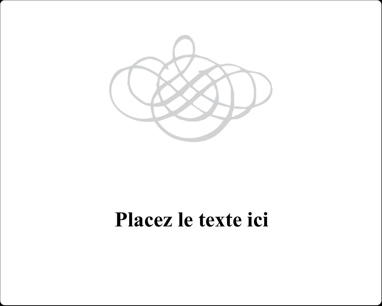 """3"""" x 3¾"""" Étiquettes rectangulaires - Monogramme de mariage"""